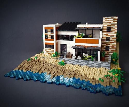 Orange Beach House MOC. Reflections.