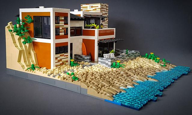 Orange Beach House MOC. Side view.