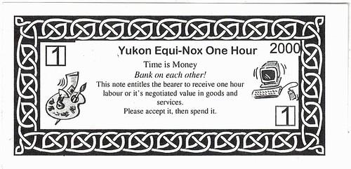 Yukon equi-Nox One Hour currency note back