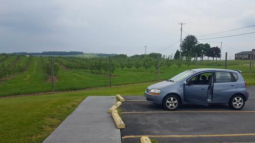 chevrolet aveo car westvirginia hampshirecounty usa orchard parkinglot highview