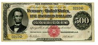 $500 gold certificate