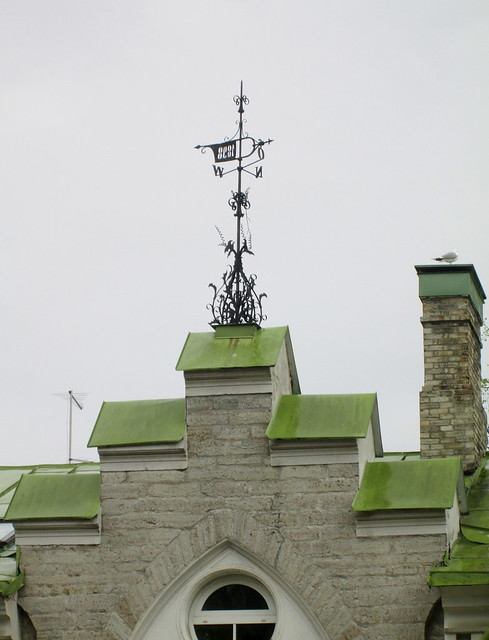 green roof weather vane, Estonia, Tallinn