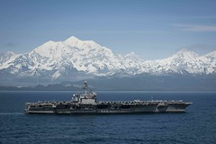 USS Theodore Roosevelt (CVN 71) transits the Gulf of Alaska, May 25, after participating in exercise Northern Edge 2019. (U.S. Navy/MC3 Erick A. Parsons)