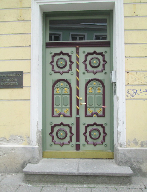 painted door, Tallinn, Estonia
