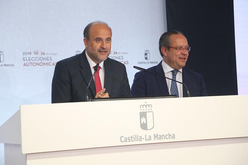 Martínez Guijarro y Ruiz Molina informan de los resultados electorales en Castilla-La Mancha