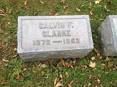 C. F. Clarke tomb
