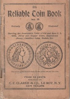 C. F. Clarke Reliable Coin Book No. 10