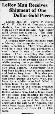 C. F. Clarke Gold pieces article