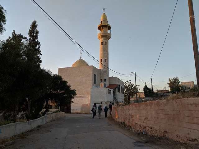 Day 6b -  the time of the call to prayer varies slightly day by day in Palestine