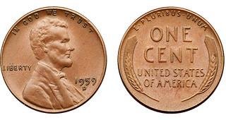 1959-D wheat cent