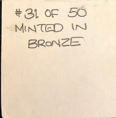 Crain Label for Valentine Medal - Reverse