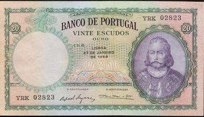 1959 Portugal 20 Escudos