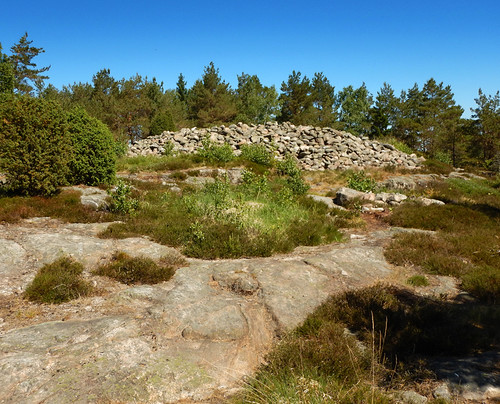 Cairn marking a grave of the Bronze Age people that lived at Tanum, a UNESCO World Heritage Rock Art Centre in Sweden