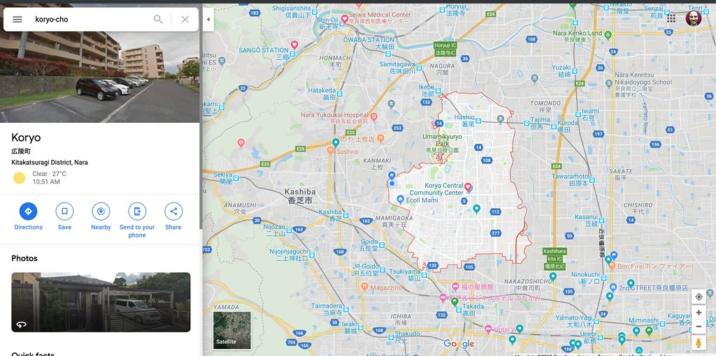 Google maps of Koryo