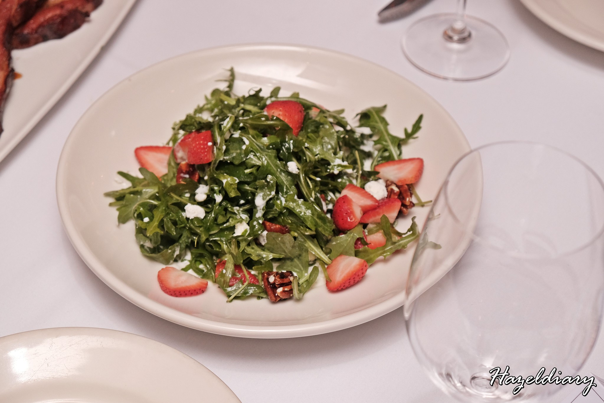 Morton's Steakhouse Mandarin Oriental-Strawberry, Arugula and Goat Cheese Salad