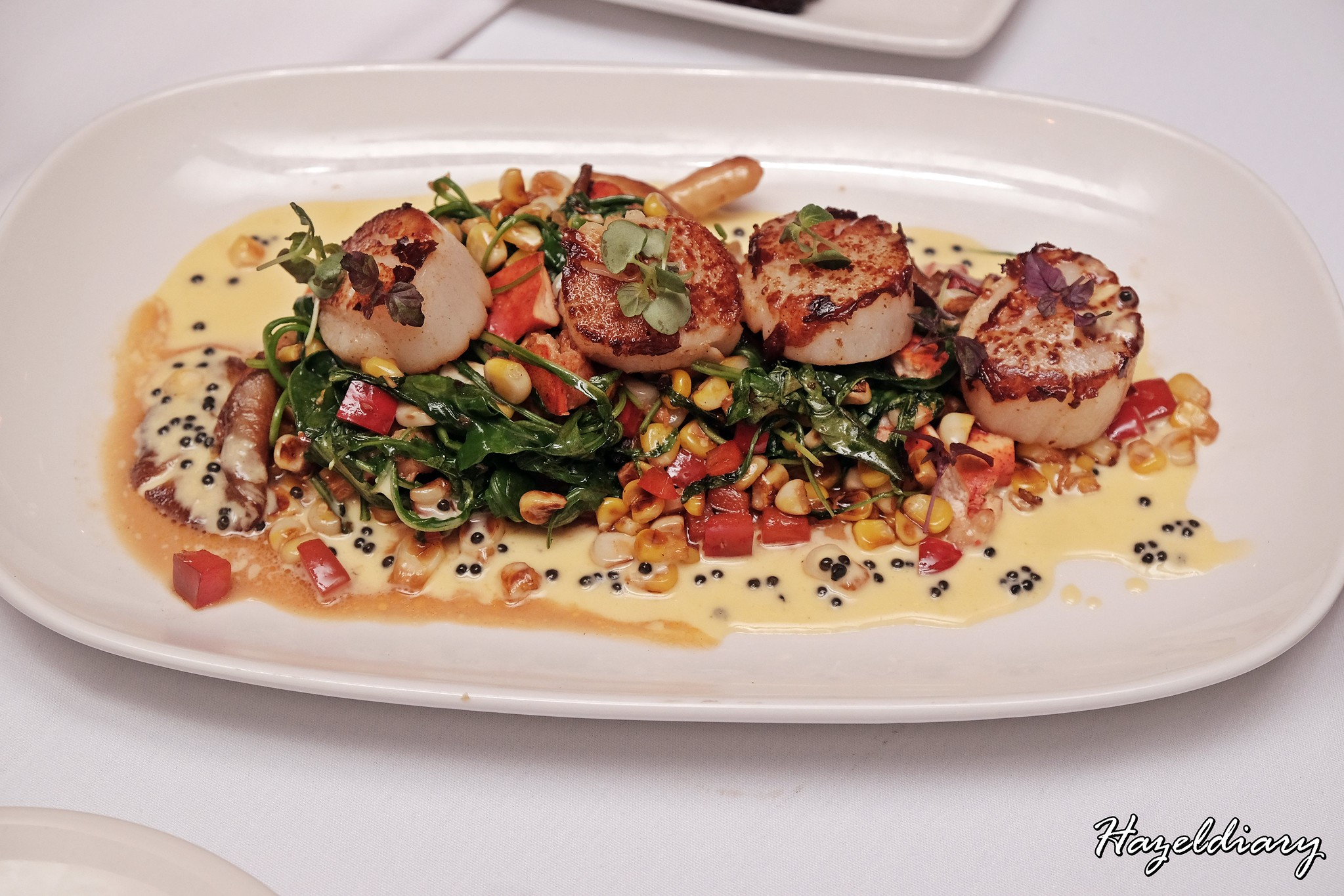 Morton's Steakhouse Mandarin Oriental-Seared Sea Scallops with Lobster & Caviar Butter