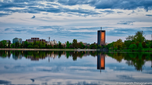 spring nature colours colorful ottawa nikon architecture building water lake dowslake ontario university carleton reflection sunset clouds