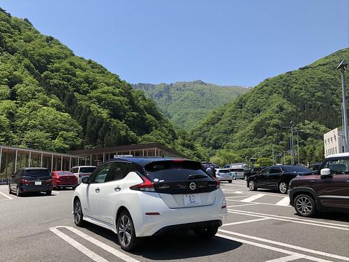 日産リーフ e+(62kWh)@谷川岳PA(下り)
