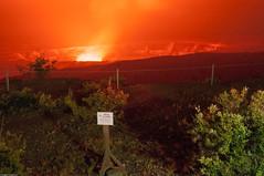 Kilauea Halema'uma'u crater at night (2015)