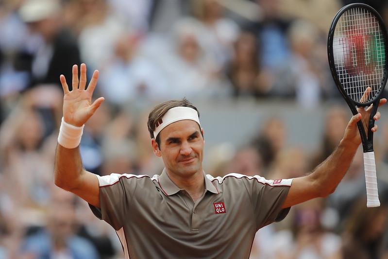 Roger Federer拿下4年來首場法網勝利。(達志影像)