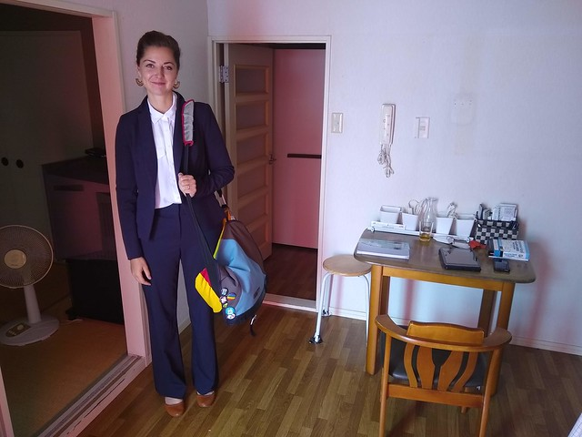 lindsay's first day of school in Japan