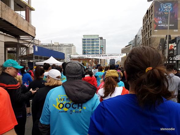 Sporting Life 10K Toronto starting line