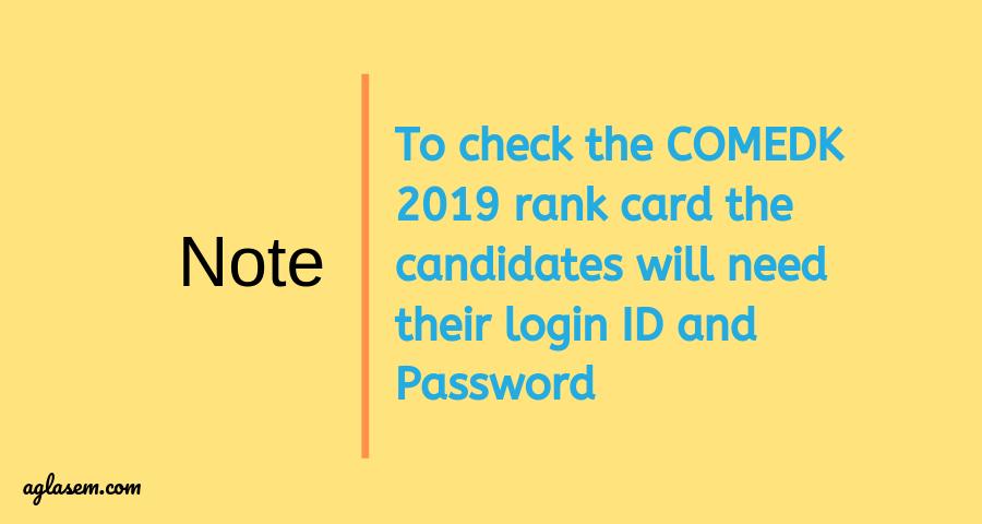 COMEDK 2019 Rank Card