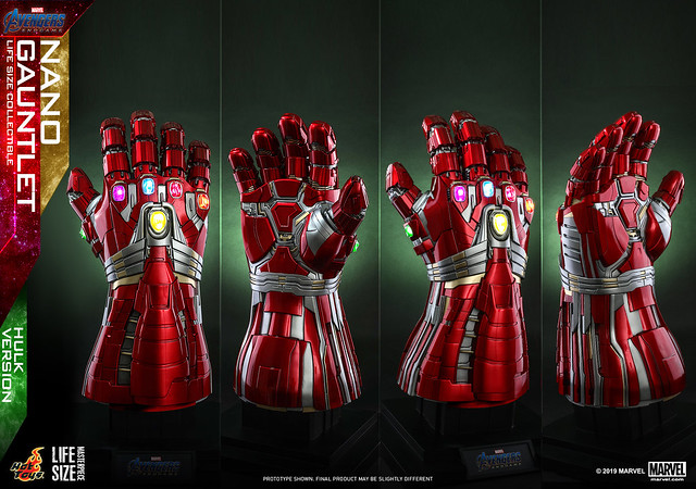 Hot Toys - LMS008 -《復仇者聯盟4:終局之戰》1:1 比例 奈米手套(浩克版) Nano Gauntlet Life-Size Collectible (Hulk Version)
