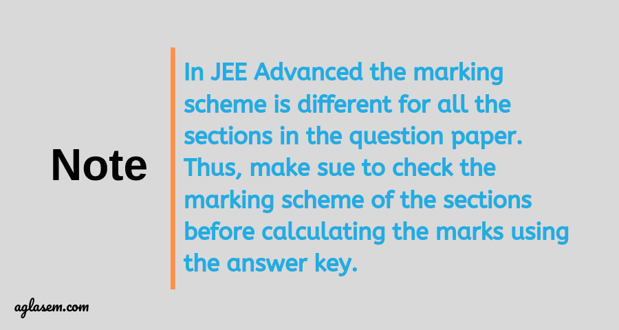 JEE Advanced 2019 Answer Key