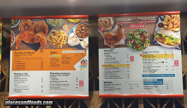 nandos south africa menu