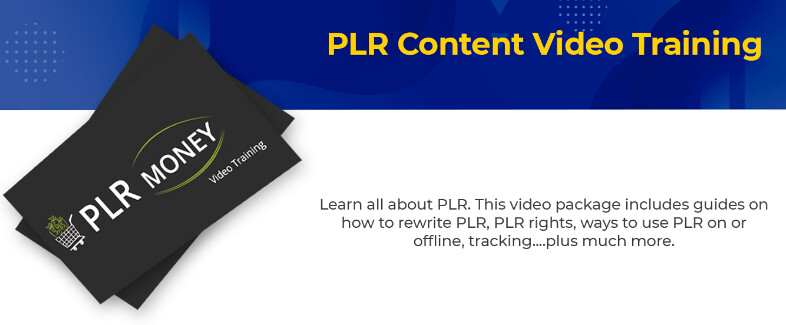PLR Content Video Training