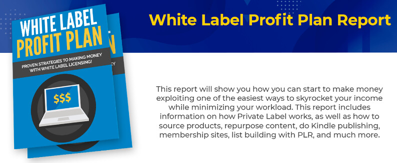 White Label Profit Plan Report