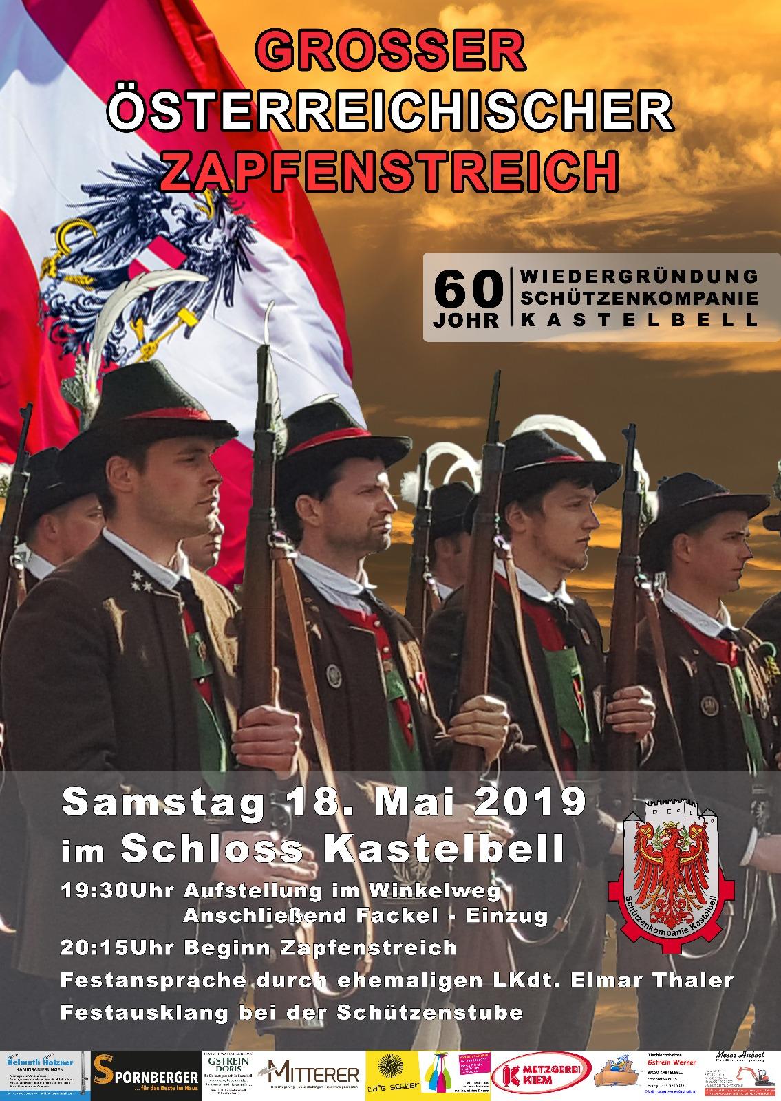 60-Jahrfeier der SK Kastelbell, 18.05.2019