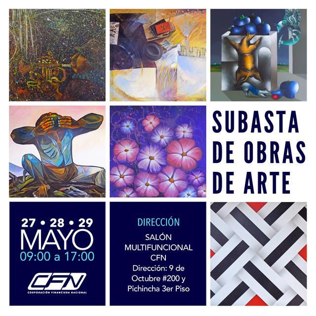 Subasta de obras de arte - CFN Guayaquil