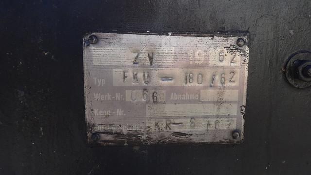 1962 Typenschild fahrbare NVA-Feldküche FKÜ 180-62 von VEB Wärmegerätewerk Dresden Werk-Nr. 066 Alt-Köpenick in 12555 Berlin