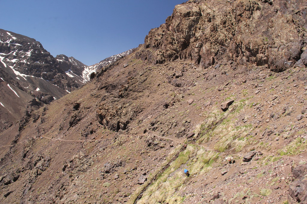 Day two lunchtime views, Mount Toubkal trek