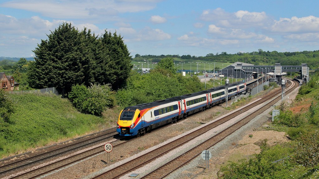 222018, EMT Meridian service, East Midlands Parkway, 24th. May 2019 by Crewcastrian