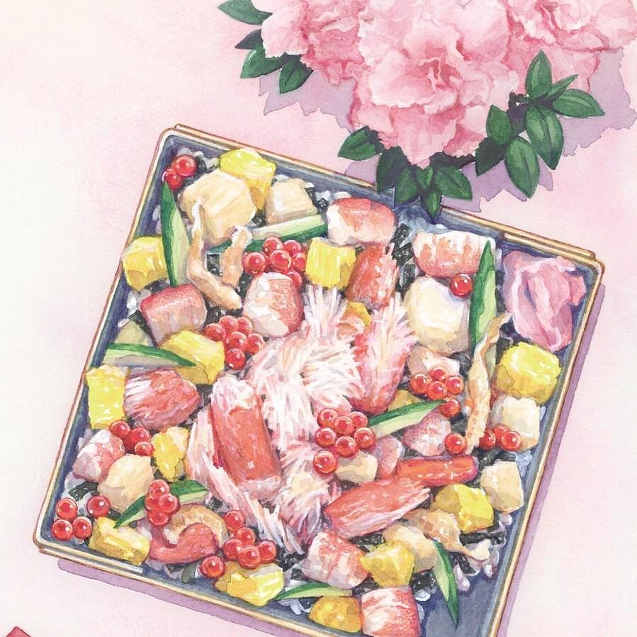 Bookcover illust. 「弁当屋さんのおもてなし まかないちらしと春待ちの君(喜多みどり...