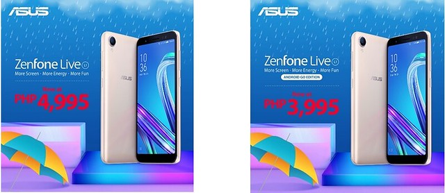 Asus Philippines ZENFONE LIVE L1 AND ZENFONE LIVE L1 ANDROID GO EDITION