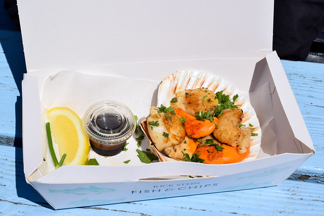 Grilled Scallops from Rick Stein's Fish and Chips, Padstow