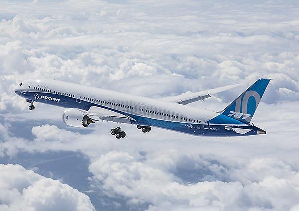 Boeing 787-10 en vuelo (Boeing)