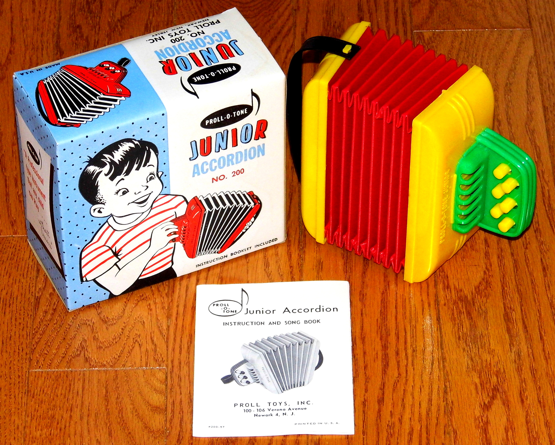 Proll-O-Tone Junior Accordion - Proll Toys - 1950's