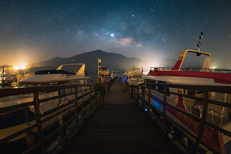 日月潭銀河|Taiwan sunmoonlake
