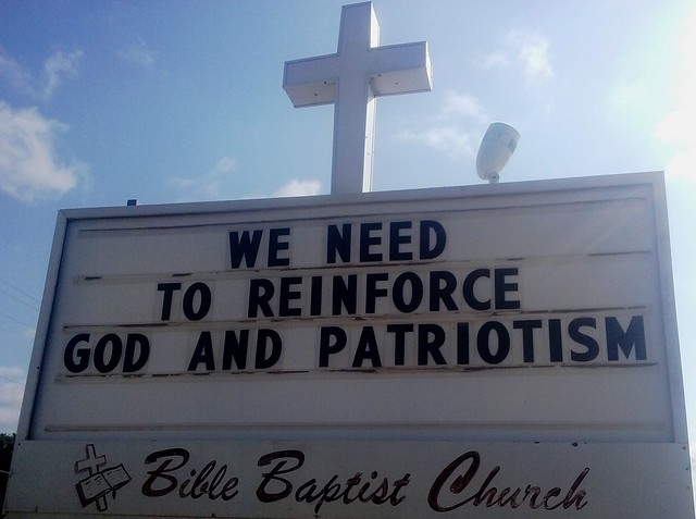 Bible Baptist Church sign: