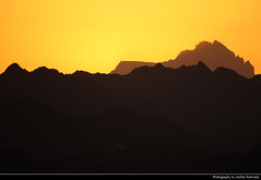 Al Hajar Mountains seen from Nizwa Fort, Nizwa, Oman