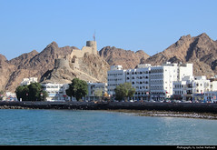 Mutrah seen from the Corniche, Muscat, Oman