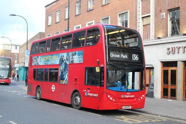 Stagecoach London 10129, LX12DFO - Route 136   Lewisham Centre