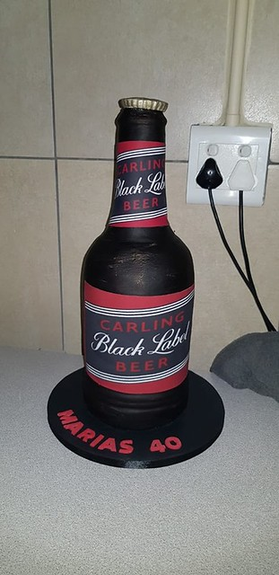 Beer Bottle Cake by Petrisha Jacobs