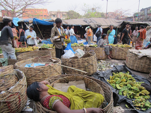 Baskets - for all things!! - Malik Ghat Flower Market - Kolkata West Bengal India