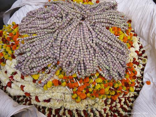 Flower & Bud Garlands - Malik Ghat Flower Market - Kolkata West Bengal India